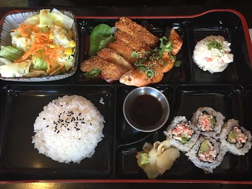 Bento box lunch at