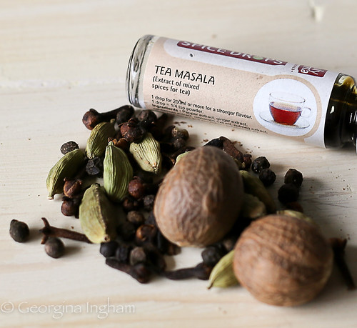Georgina Ingham - Photograph Tea Masala Spices with Holy Lama Spice Drops