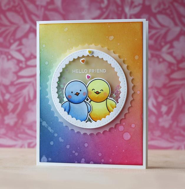 Pretty Pink Posh-Scallop Circles die, Birdie Friends