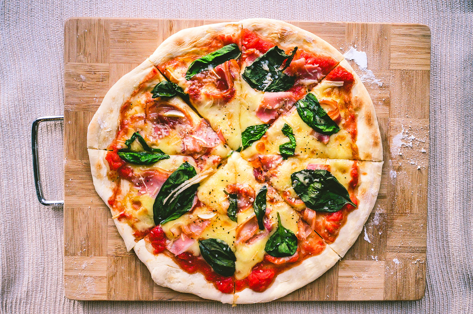 Thin-Crust Pancetta Pizza