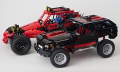 LEGO 8081 Extreme Cruiser MOD vs LEGO Mountain Rambler by Filsawgood