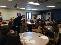 Afternoon writing club with Sharon Draper.