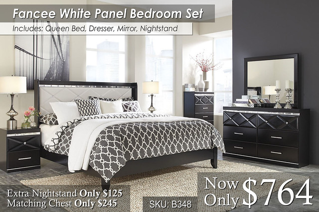 Fancee Panel Bed Set