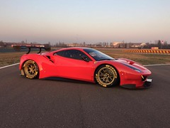 gorgeous FERRARI 488 GT3 at FIORANO for AF Corse