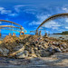 Cantilevers used in loading phosphate into ships off the coast of Nauru - Higher resolution version and virtual tour in description by Nick Hobgood