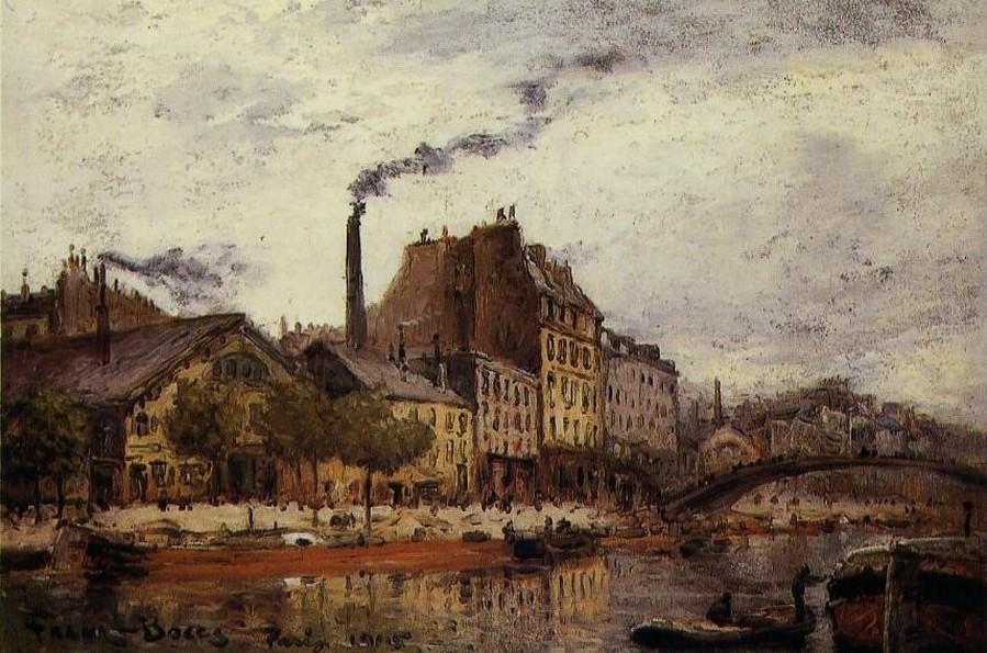 Le Quai de Valmy by Frank Boggs, 1905