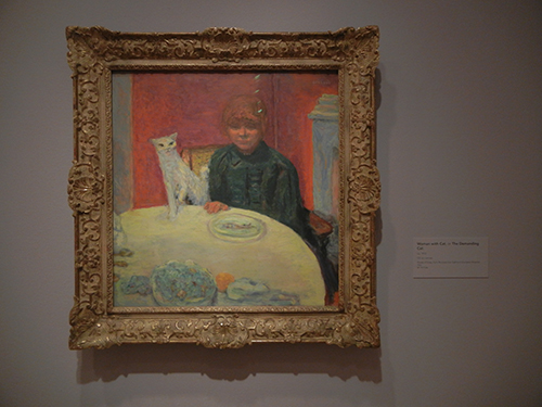 Pierre Bonnard, Legion of Honor, SF - Woman with Cat or The Demanding Cat _ 1852