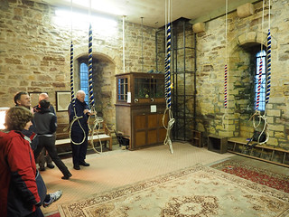 Photo inside the ringing room at Flookburgh