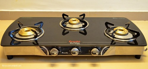Preethi Glass top Gas Stove Review 3 Burner -  Preethi BluFlame Blaze