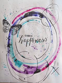 15 - Happiness - Art Journal Page