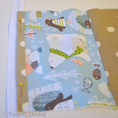 Contrast Fabric Washbag Sewing Tutorial 3