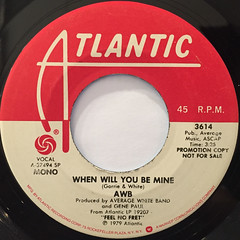 AWB:WHEN WILL YOU BE MINE(LABEL SIDE-B)