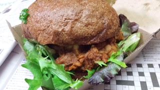 Pulled Jackfruit Burger from The Green Edge