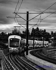 Here Comes A Chrome Train in Black & White