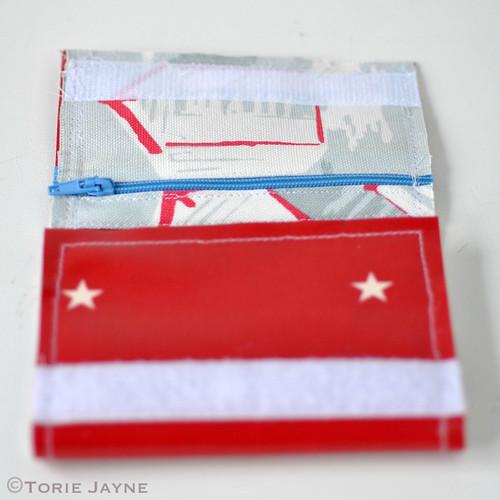 Boys Handmade folded Zip Wallet tutorial 16