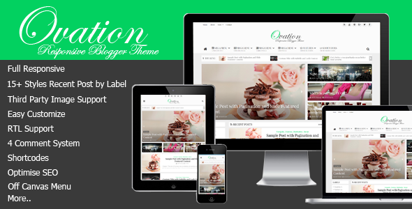 ThemeForest Ovation v1.0 - News/Magazine Responsive Blogger Theme