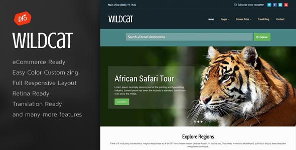 Themeforest Wildcat v1.2 – Travel & Booking WordPress Theme