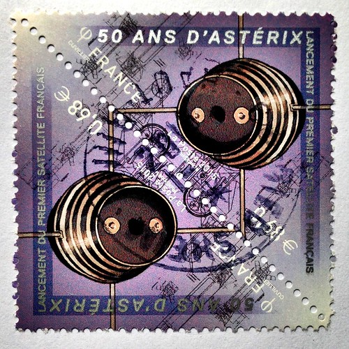 France stamp - Asterix satellite
