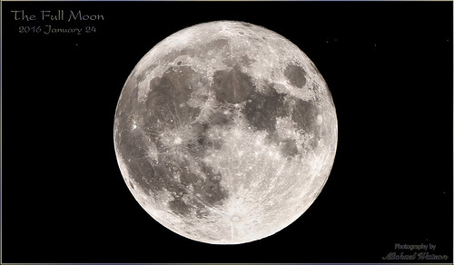 2016 Jan. 24 ~ The Full Moon with stars