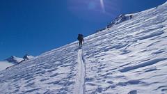 Podejscie  rampa do lodowca Kleinleitenferner