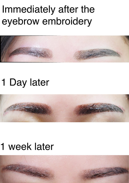 Eyebrow embroidery review singapore jacquelinekoh for 1 salon eyebrow embroidery