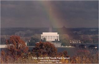 View from 1229 North Nash Street Arlington (VA) Fall 1989