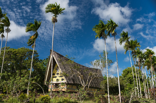 building men architecture island day cloudy culture meetinghouse palau pw micronesia oceania aimeliik