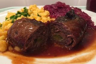 beef roulade - Lateral cut / Rinderroulade - Querschnitt
