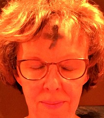 ashes on forehead