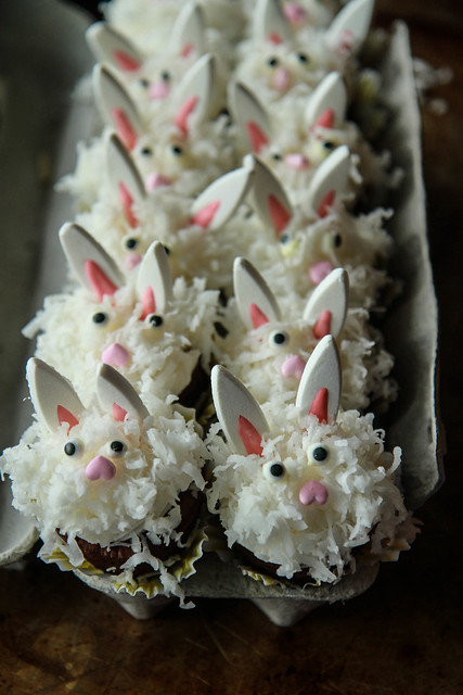 Coconut Brownie Bunnies