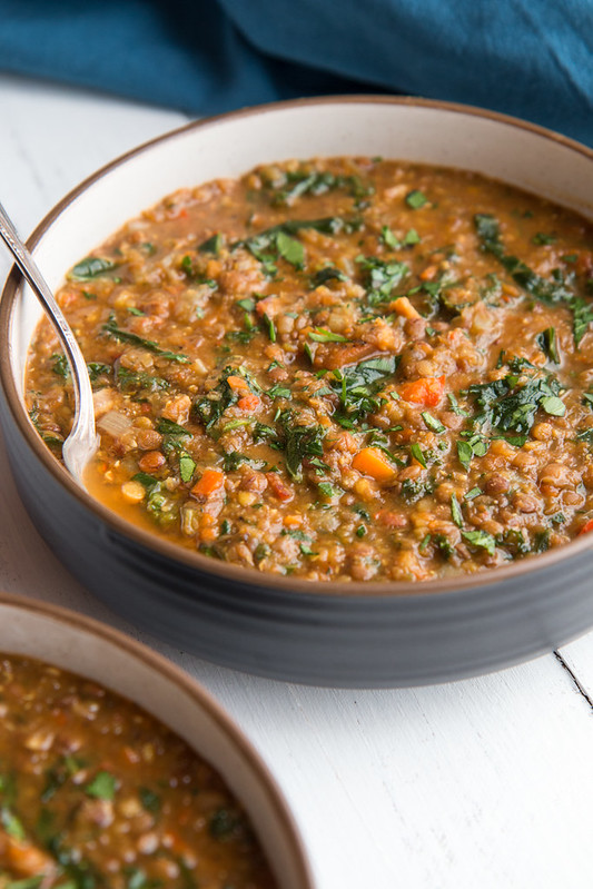 Easy Lentil Soup with Bacon