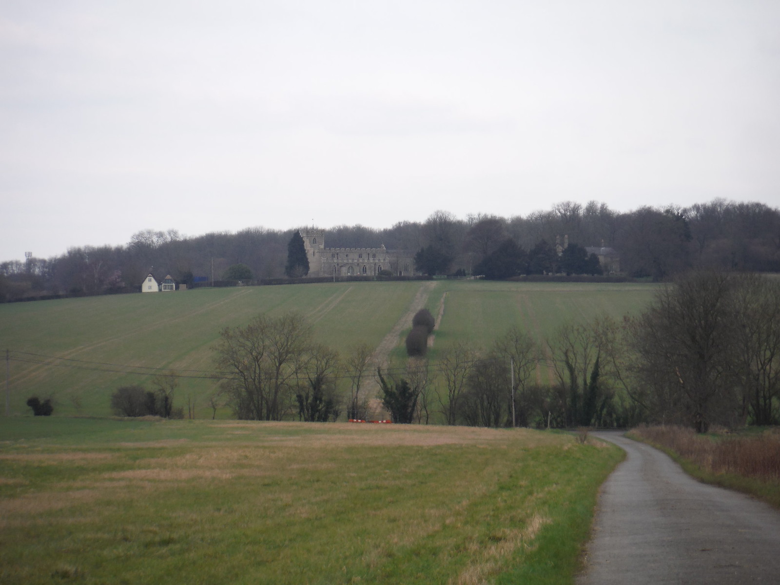 Church in Chrishall from near Chiswick Hall SWC Walk 116 Wendens Ambo [Audley End station] Circular (Extension)
