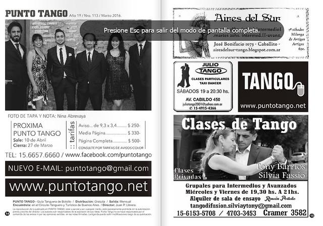 Revista Punto Tango 113 Marzo 2016-2