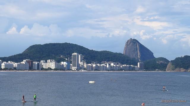 Pao de açucar visto do forte de copacabana