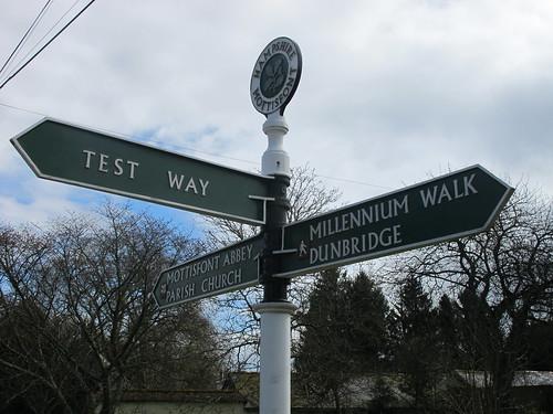 Signpost in Mottisfont Village