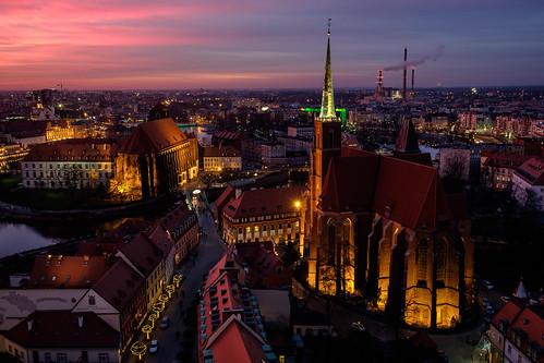 sunset sky cityscape dusk poland pl wrocław województwodolnośląskie fujifilmxt10 punchcolors