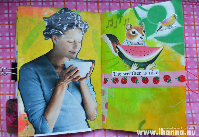 Mini Art Journal Tea and Watermellon - created by iHanna