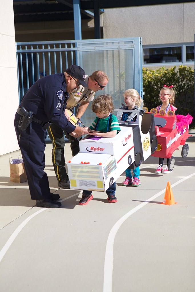 Getting a ticket from cop at Kindy 500