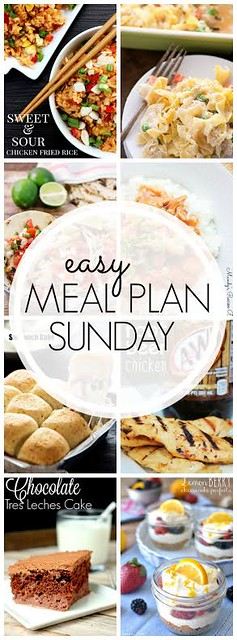 Week 43. Collaborative weekly meal planning. 9 bloggers. 6 dinner ideas, one-weekend breakfast plus 2 desserts every single week equals one heck of a delicious menu!