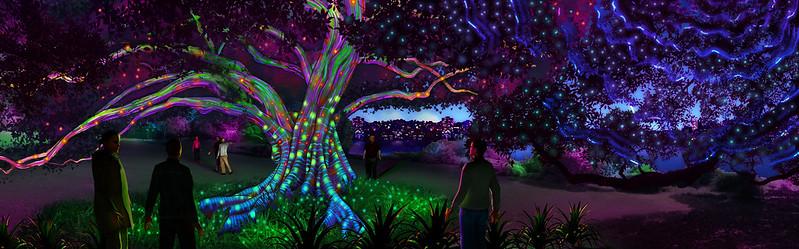 Royal Botanic Garden Sydney - Garden of Light - artist impression by Ample Projects