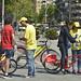 Acció de carrer campanya La bici, la millor idea del món