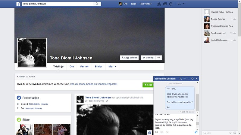 facebook tone blomli johnsen