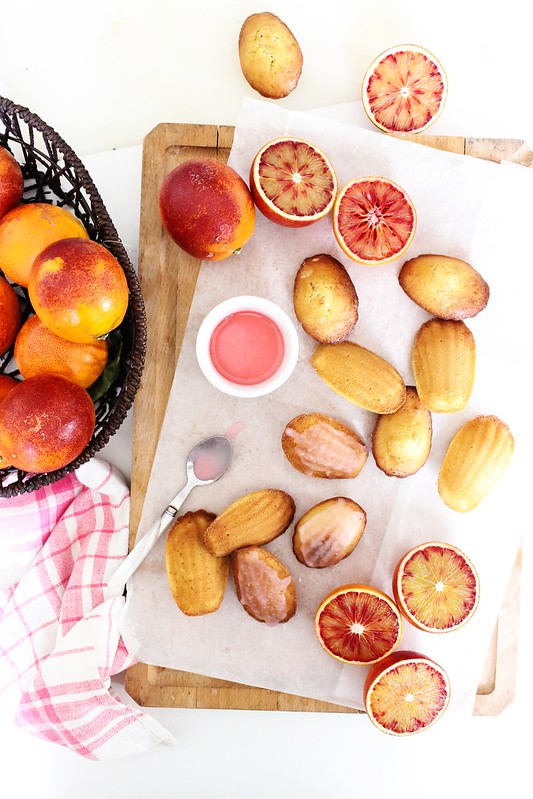Blood Orange Madeleines