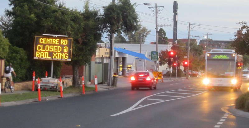 Bus replacements at Bentleigh during level crossing removal works