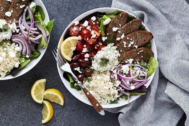 Greek Lamb Gyro Bowls with Tzatziki
