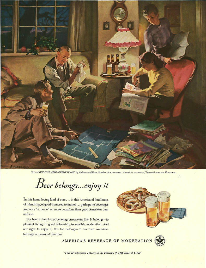 013. Planning the Newlyweds' Home by Haddon Sundblom, 1948