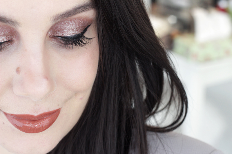 Festive NYE Rose Gold Bold Wing Makeup Look