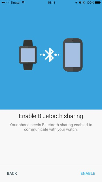 Android Wear iOS - Bluetooth Sharing