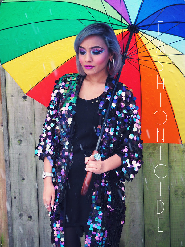 Sequin-Disc-Kimono