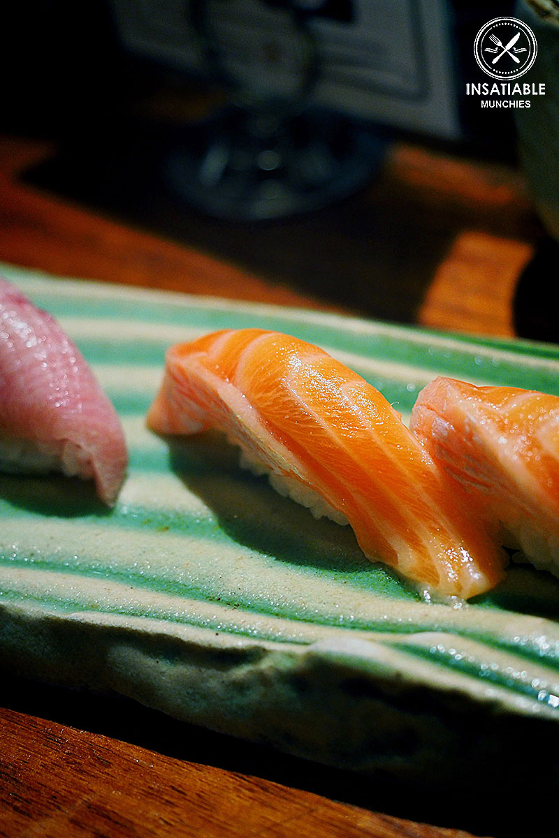 Ocean trout belly nigiri, $8 for 2pcs: Busshari, Potts Point. Sydney Food Blog Review